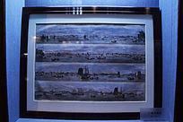 约1857年广州鸟瞰图版画