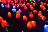 郁金香花形灯光