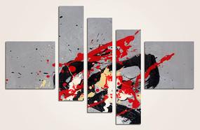 爆款涂鸦抽象油画高清图片
