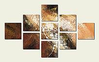 壁画 玄关背景墙 现代抽象油画