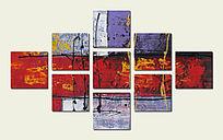 极简风格抽象油画背景墙壁画