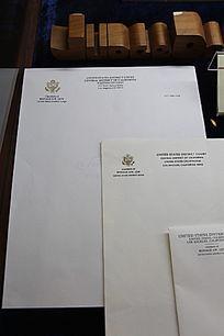美国第一位华裔联邦法官刘成威法官信纸