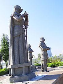 蒙古族人物雕塑