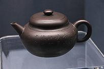 清朝宜兴紫砂带铭茶壶