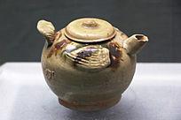 唐朝釉下彩绘鸟形壶