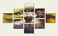 油画壁画背景墙 现代抽象油画 艺术背景墙