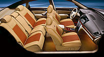 宝马整车展示专车专用座垫实拍图