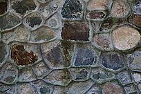 不规则的石块背景墙