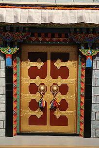 藏式大门模型