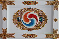 藏式雕花天花板