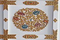 藏式雕牡丹花纹