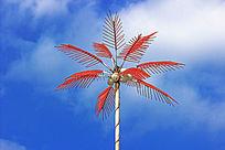 仿椰树高杆路灯