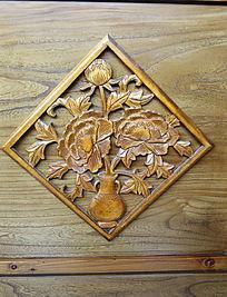 木刻木雕花