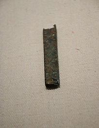 战国方形青铜管饰