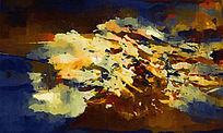 抽象油画 山水风景画