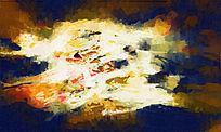 电视背景墙 店抽象装饰画 抽象油画