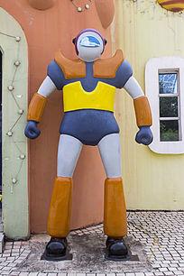卡通外星人雕像