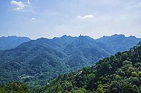 千山七重天俯瞰灵岩寺与弥勒宝塔山峰山脉