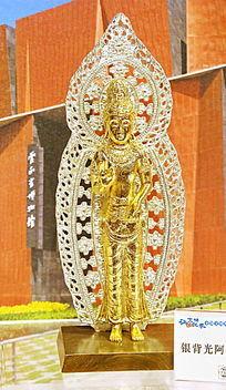 铜雕站姿菩萨雕像