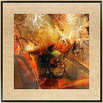 抽象油画 酒店装饰画