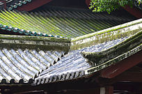 古建筑屋顶一角图片