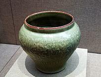 龙泉窑豆青釉罐