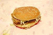麦当劳的鸡肉汉堡