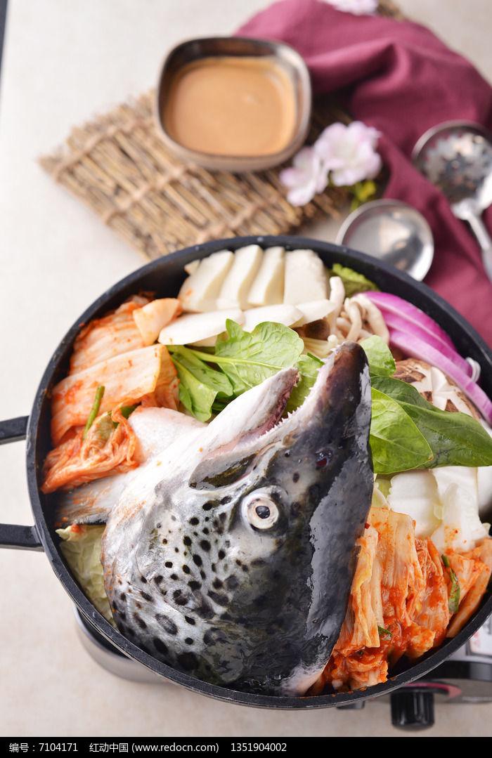 泡菜三文鱼头火锅