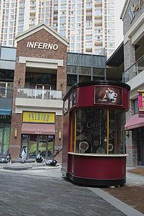 商业街区咖啡亭