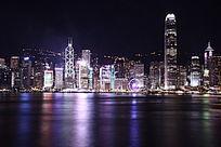 璀璨维多利亚港夜景