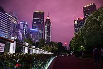 城市高楼夜晚灯景