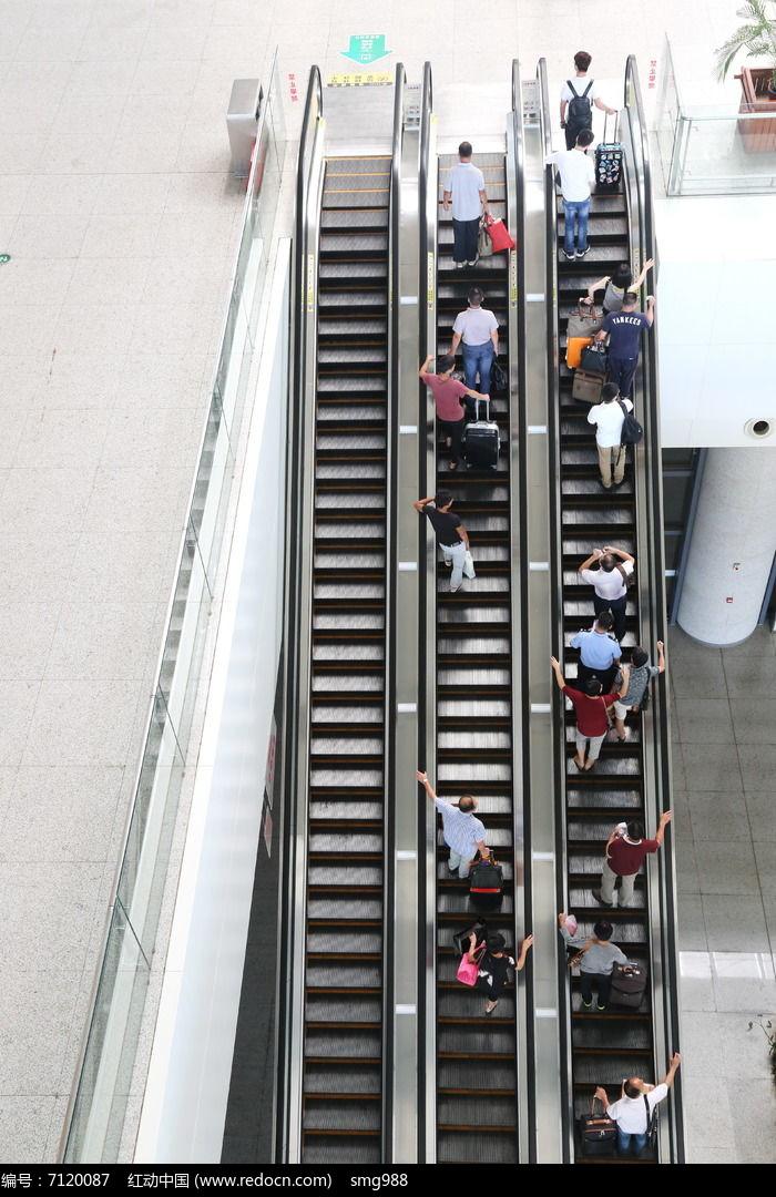 俯视南昌高铁西站扶梯高清图片下载 编号7120087 红动网