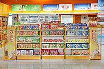 高铁站的食品销售展柜
