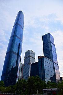 蓝色商务楼景观