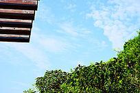 蓝色天空背景图