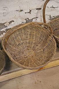 老物件藤编篮子