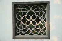 复古花纹图案石头窗