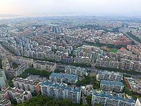 俯视航拍厦门城市