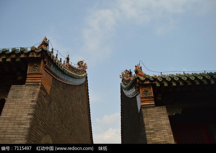 故宫中式屋檐古建筑图片