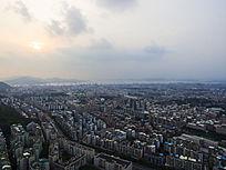 鸟瞰厦门城市风光