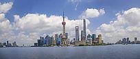 上海东方明珠陆家嘴全景拍摄