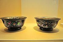 燕京八绝之清乾隆黑漆嵌螺钿碗