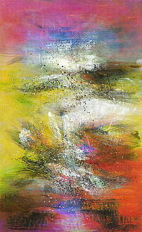 抽象油画 背景墙 壁画