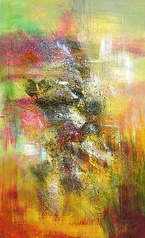 抽象油画 玄关端景背景墙壁画