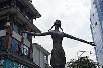 街头的雕塑