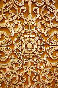 蒙古族风格雕花图案
