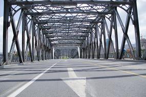 晴朗天空外白渡桥