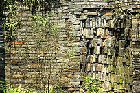 青砖墙围墙