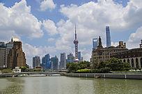 上海州河看外滩