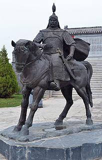石雕金戈铁马大将军